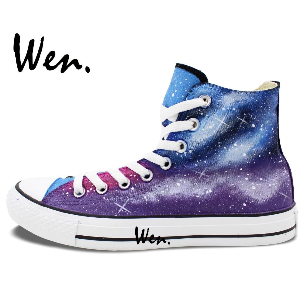 Wen Sneakers Izvorni Ručno oslikane cipele Ljubičasta Plava Galaxy - Tenisice - Foto 2
