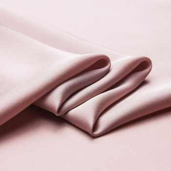 6 Colors Luxury Solid Stretchy pure silk double Georgette fabric for dress,twinkly pearlescent smooth satin fabric by the yard