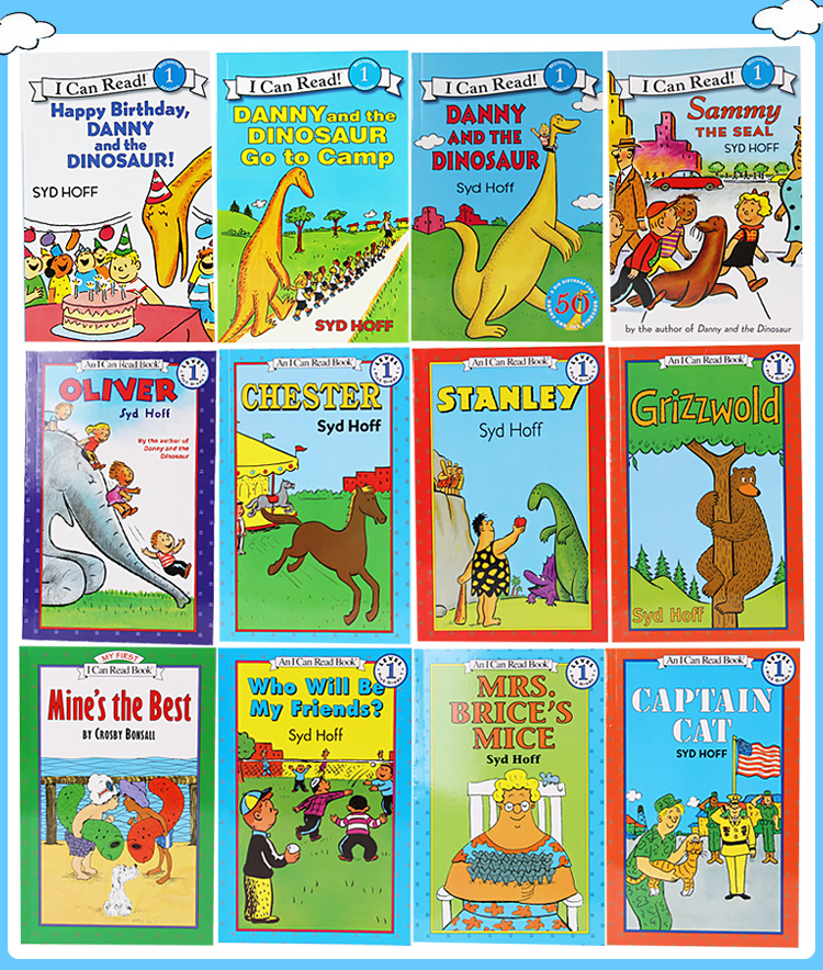 12 Books/set Cute Classical English Picture Books I Can Read Children Story Book Early Educaction Reading Book For Kids Gift