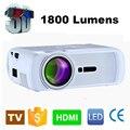 WZATCO 800*480 Portátil Mini HD LED Proyector de la TV 1800 Lúmenes 3D Moive Casa Multimedia video Proyectores Beamer Fábrica Venta directa