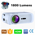 WZATCO 800*480 Portable Mini HD LED TV Projector 1800Lumens 3D Moive Multimedia Home video Projectors Beamer Factory Direct Sale