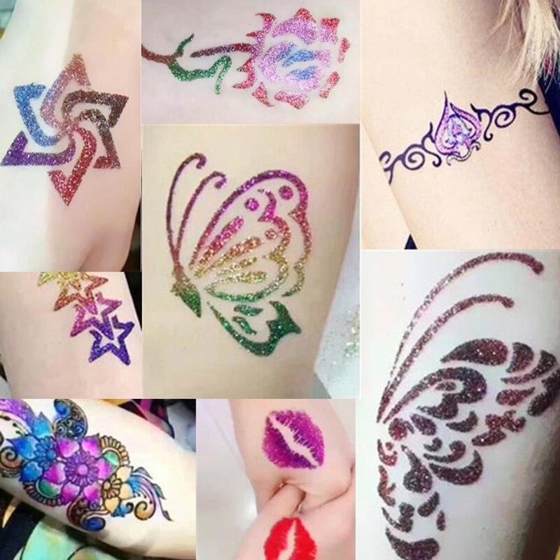 c9d7a800e WXS 5 pcs Tattoo Template Stencil Fashion Design Neck Tattoos Designs Henna  Tattoo Stencils Temporaire Glitter Tatouage TS 02-in Tattoo Stencils from  Beauty ...