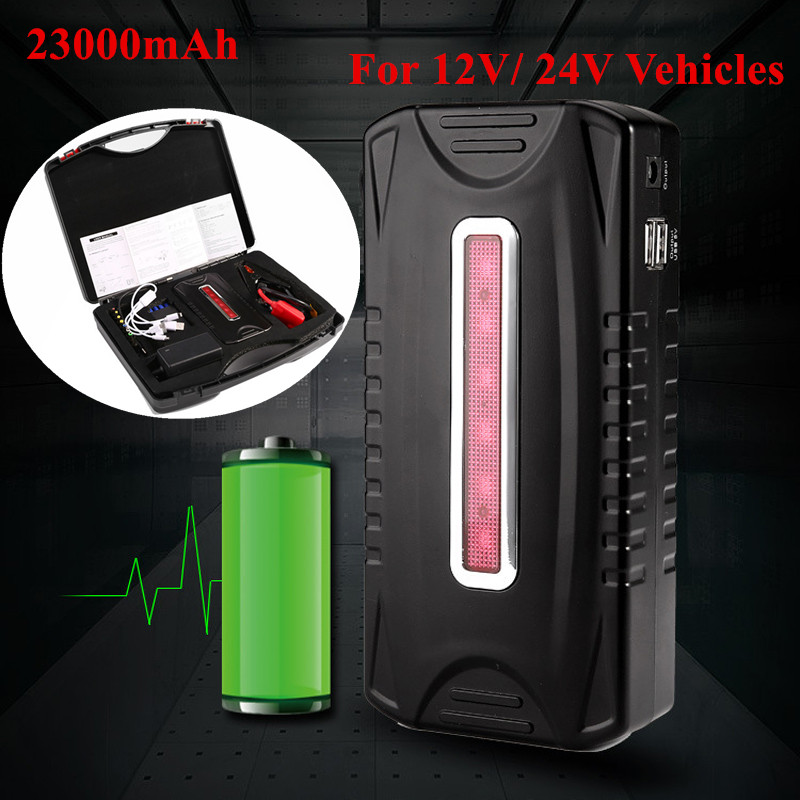 2017 New 24V 23000mAh Car Jump Starter For Diesels Gasoline Emergency Starting Digital Products Vehicle Booster