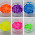 50 G/LOTE Neón Redonda Color Ultra Thin Lentejuelas Lentejuelas Diseño DIY Salon Acrílico Uñas Manicura Ornamento Accesorios