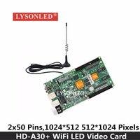 LYSONLED Special Offer Huidu HD A30 WiFi Mode Asynchronization Full Color LED Display Card Wifi RGB