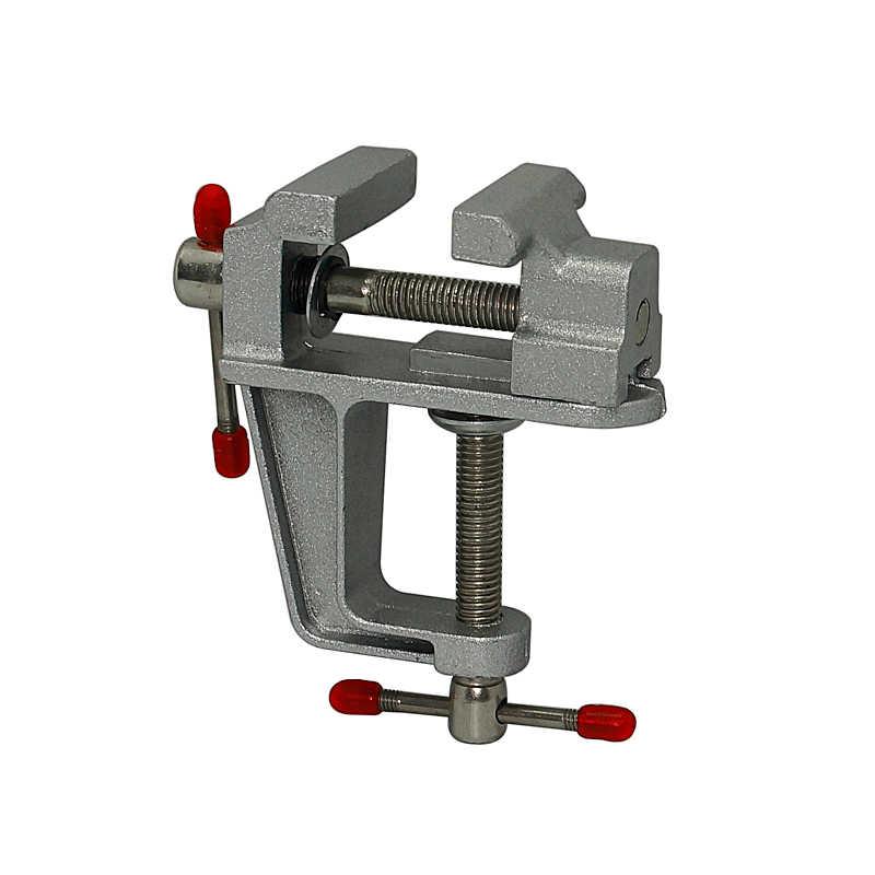 Mini torno de Bancada 8001 Em Miniatura De Alumínio Pequeno Joalheiros Passatempo Grampo No Banco Tabela