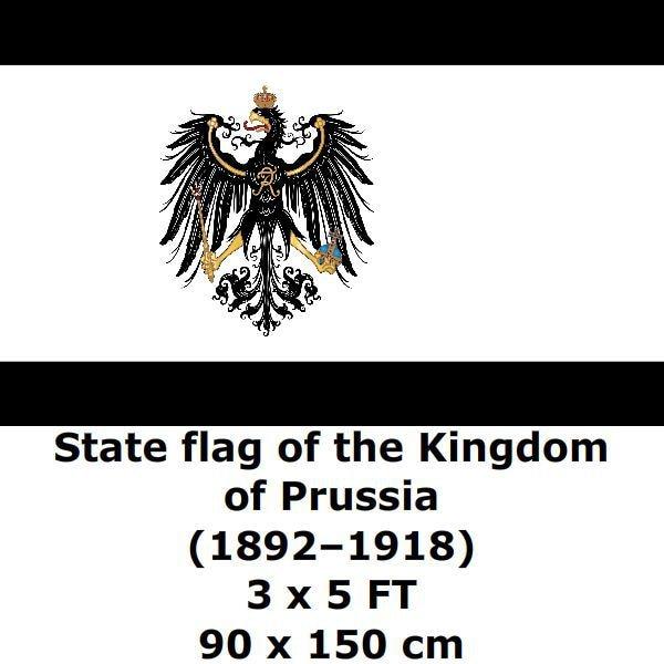 3x5 kingdom of prussia flag germany banner prussian german - HD1500×1000