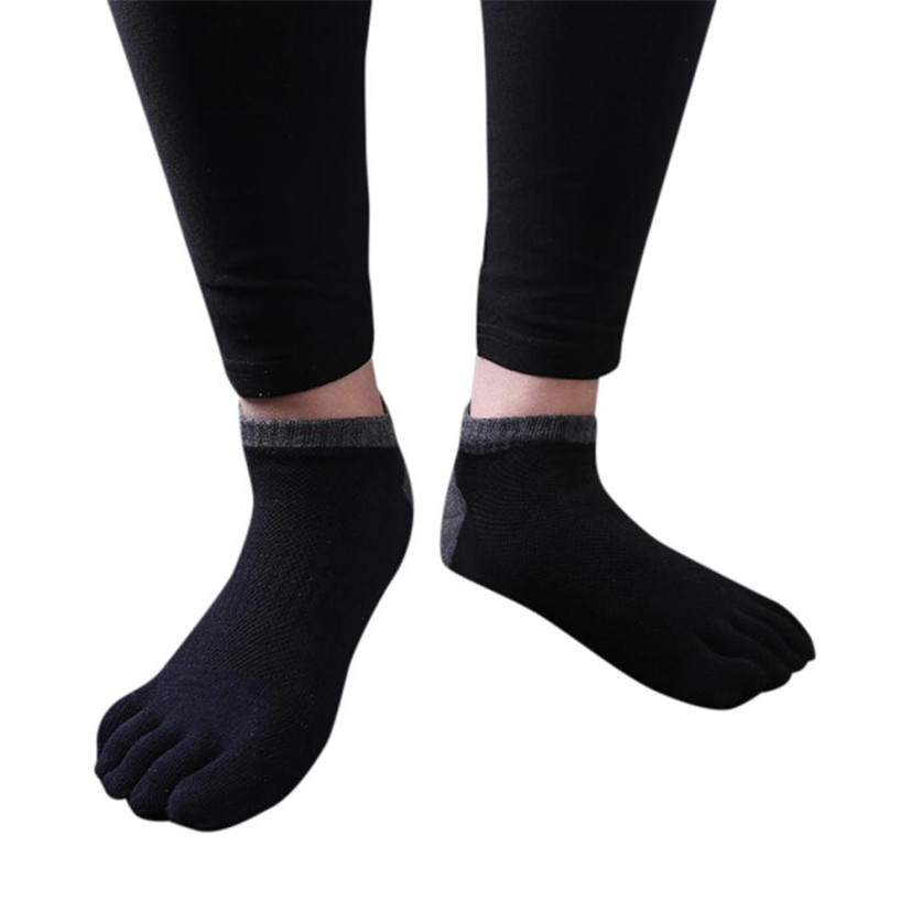PINK HEROES Mens Five Toe Cotton Socks Pure Trainer Finger Socks Breathable Mens Socks 2018MAR20