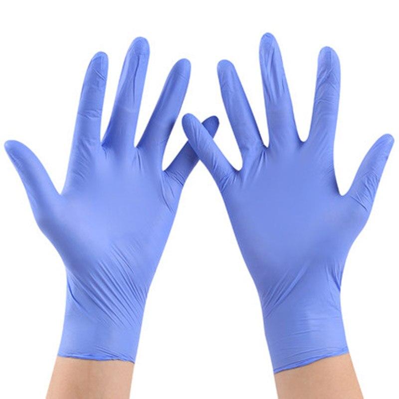 50 ou 100 Pcs Descartáveis Luvas de Látex Luvas Para Uso Doméstico de Limpeza Descartáveis Luvas de Alimentos de Limpeza Universal Para A Esquerda e para a Direita mão