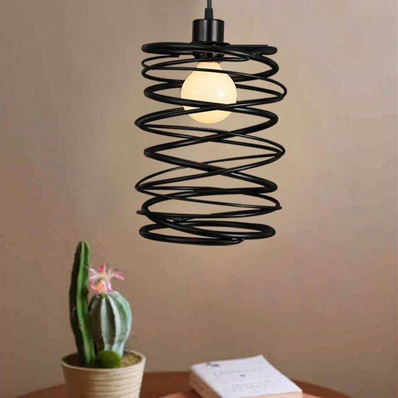 American village iron spring Pendant Lights simple modern bar restaurant lamp bedroom lamp living room lamp art ZL252 LU717103 chinese style classical wooden sheepskin pendant light living room lights bedroom lamp restaurant lamp restaurant lights