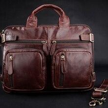 Free Shipping Vintage Leather Men s Briefcase Trendy Shoulder Bag Messenger  Bag(China) e5b5eadb93820