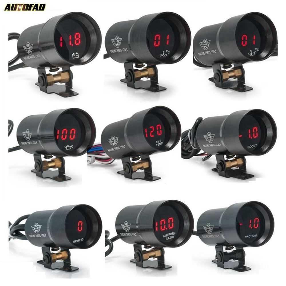 37 مللي متر مايكرو الرقمية المدخن فولت/Water Temp. /Oil Temp. /ضغط الزيت/مقياس سرعة الدوران/فراغ/دفعة/الهواء/الوقود نسبة/EGT AF-DGT-AF