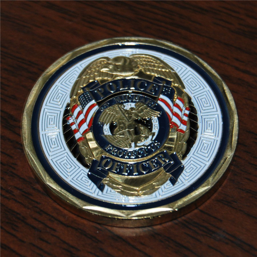 100pcs lot free shipping St Michael ArchAngel Patron LAW ENFORCEMENT Police DEA CIA SWAT Challenge Coin in Non currency Coins from Home Garden