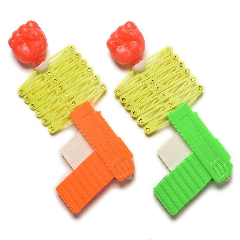Kids Magic Stretch Telescopic Fist Gun Retractable Party Festival Gift Classic Shooter Plastic Elastic Trick Funny Toy J75