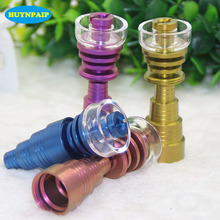 Colorful Hybrid Titanium Nail With Quartz Bowl Nails 10mm 14mm 19mm Female Male Joint Banger