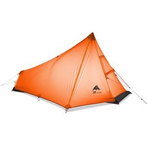 Image 5 - 3F UL הילוך Oudoor Ultralight קמפינג אוהל 1 אדם מקצועי 15D ניילון סיליקון Rodless קל אוהל קמפינג ציוד