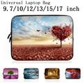 9.7 10 12 13 15 17 Neoprene Laptop Bag Sleeve Pouch Bag For Notebook Computer Bag 13.3 15.4 15.6 17.3 For Macbook Air / Pro