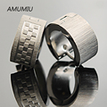 AMUMIU Free shipping 316l Stainless Steel Dull Polished Little Square Mens Wide Earring For Cow Boy, Wholesale,HZE003