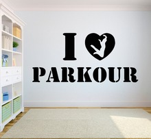 Parkour Wall Decal Extreme sports Vinyl stickers Jumping Street Cities Sport Decals Sticker Art A2-007