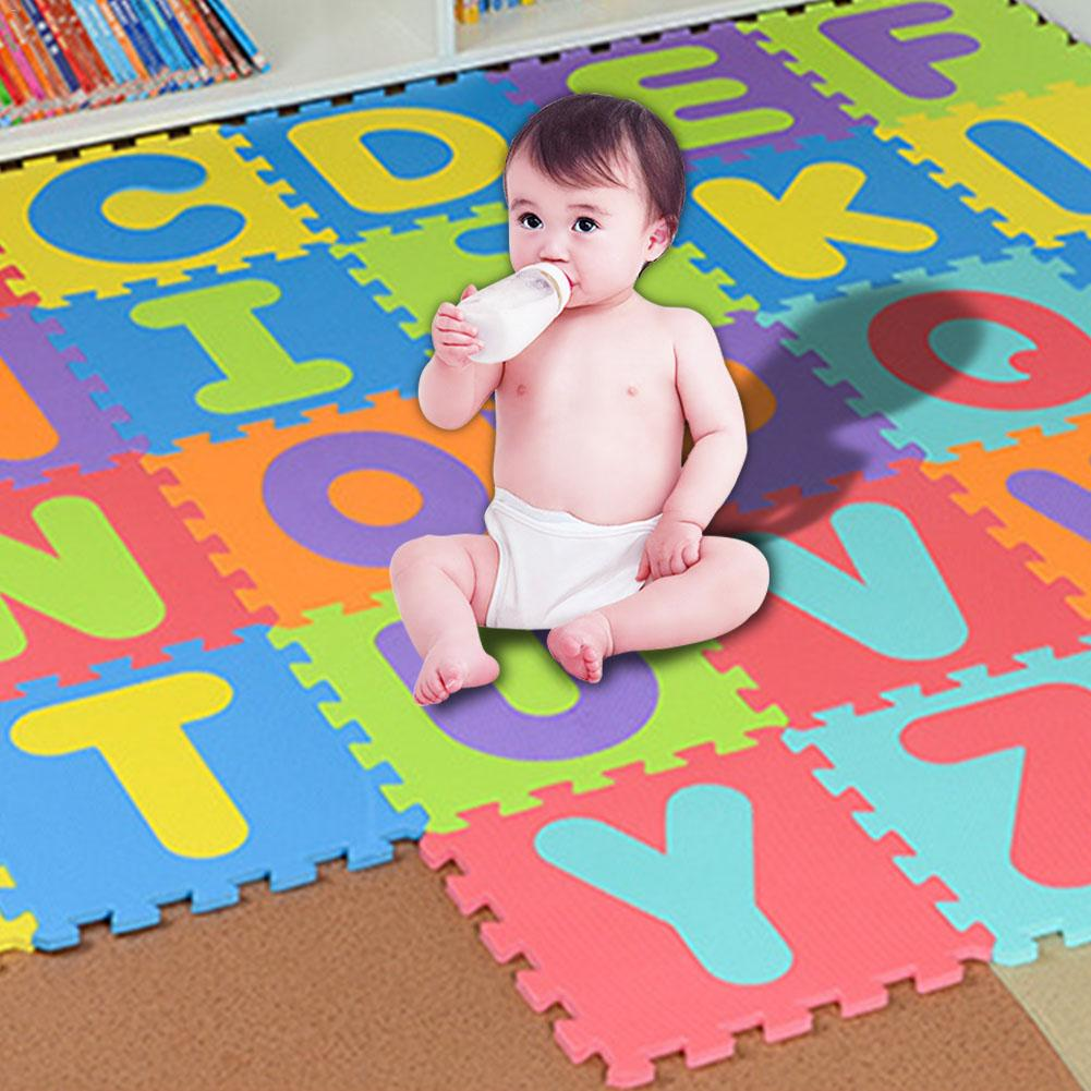 Activity & Gear 36 Pcs Childrens Puzzle Mat Digital Letter Educational Foam Cushion Cold-proof Environmentally Friendly Baby Crawling Mat