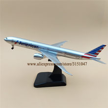 19cm Alloy Metal Air American AA B777 Airlines Airplane Model Boeing 777  Airways Plane Model Wheels Aircraft Kids Gifts 3c3c6758e099c