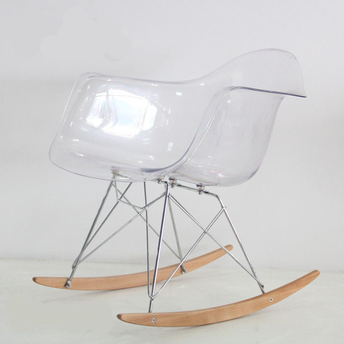 clear plastic furniture. Modern Design Transparent Clear Plastic And Wood Rocking Chair. Smoke Acrylic Chair With Armrest. Chair-in Living Room Chairs From Furniture I