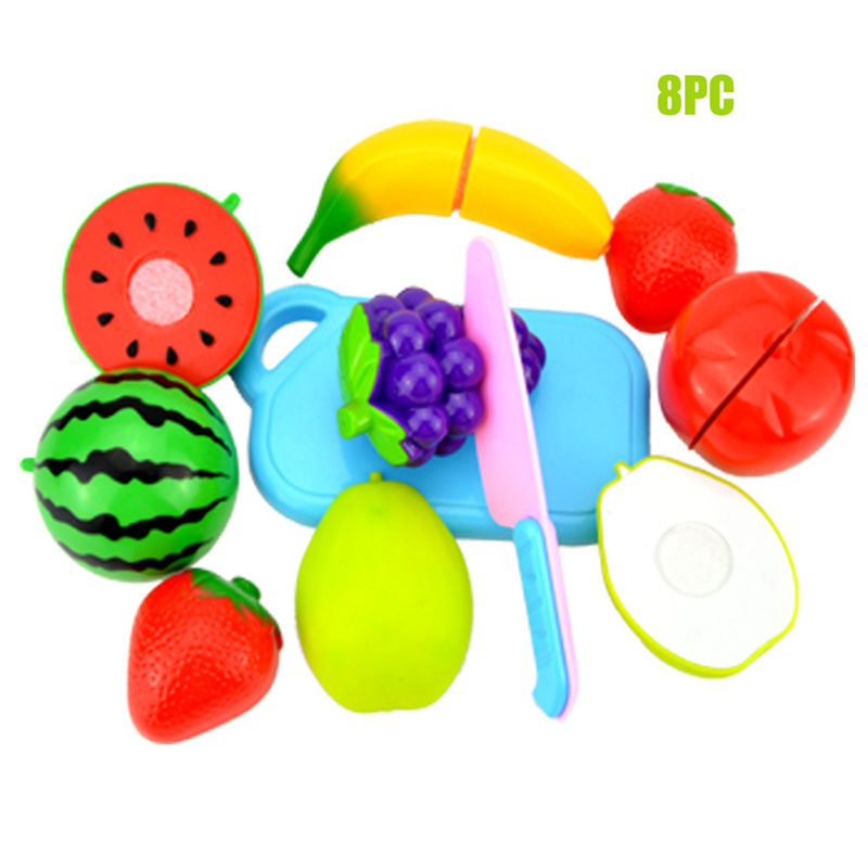 Multi Kinds Fruits Kids Pretend Role Play Kitchen Fruit Vegetable Food Toy Cutting Set Gift Kids Toys For Children Drop Shipping