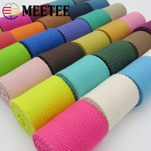 3Meters 50mm Thick 2mm Canvas Polyester Cotton Webbing Label Ribbon Bags Backpack Belt Strap Bias Binding Tape DIY Sewing Craft