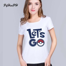 Let's go Letter Printed t shirt women Novelty hipster regular short Sleeve tee shirt femme women tops(China)