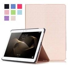 Высокое качество смарт pu кожаный чехол для huawei mediapad m2 10.0 m2-a01l/m2-a01m/m2-a01w tablet case + free screen протектор