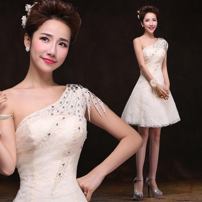 La nouvelle mariée coréenne 2015 une épaule cultiver sa moralité toast bref paragraphe sœurs robes de demoiselle d'honneur
