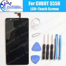CUBOT S550 LCD Display+Touch Screen Assembly 100% Original LCD Digitizer Glass Panel Replacement For CUBOT S550 Phone+Tools
