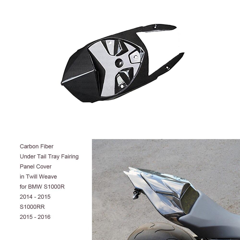 Мотоцикл волокна углерода twill стекло лоток под хвост обтекатель Чехол панель Саржевого переплетения для BMW S1000R 2014 - 2015 S1000RR 15-16