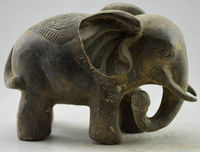 Elaborate Chinese Collectible Decorated Old Handwork Bronze Elephant Statue