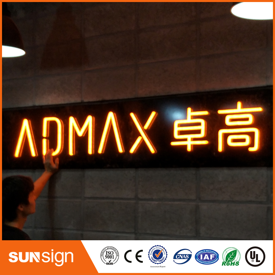 3D Lighting Acrylic Mini LED Channel Letter Sign / Bending Machine