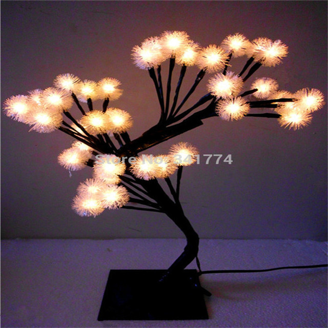 Led Cherry Blossom Tree Night Lights Desk Table Lamps Garland