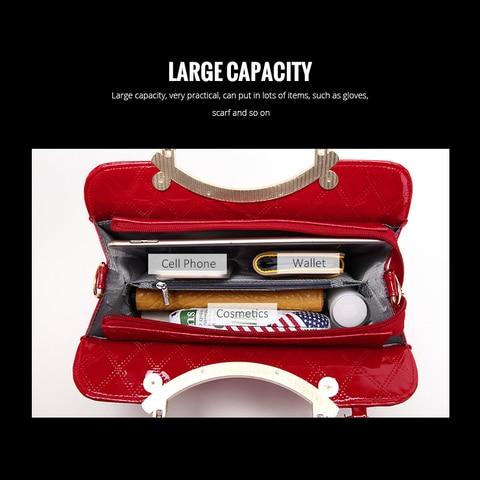2019 Brand Women Handbags Fashion Luxury Big Shoulder Bag Female Hand Bags Patent Leather Computer Bag for Ladies Girls Karachi