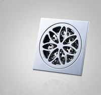 Floor drain full copper anti odor toilet washing machine floor drain core drain stainless steel filter screen LU5247