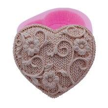 DIY сердце дизайн силиконовые формы для мыла ручной работы цветок силиконовая форма для мыла изготовление
