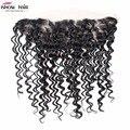 Глубокая волна Кружева Фронтальная Закрытие 13x4 Человеческих Волос С Глубокой Волос Перуанский Девы Волос Высшего Качества Перуанской Deep вьющиеся Волосы
