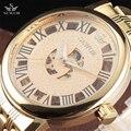 SEWOR Big Dial Design Hollow Engraving Gold Case Stainless Steel Skeleton Mechanical Watches Men Luxury Brand Heren Horloge Gift