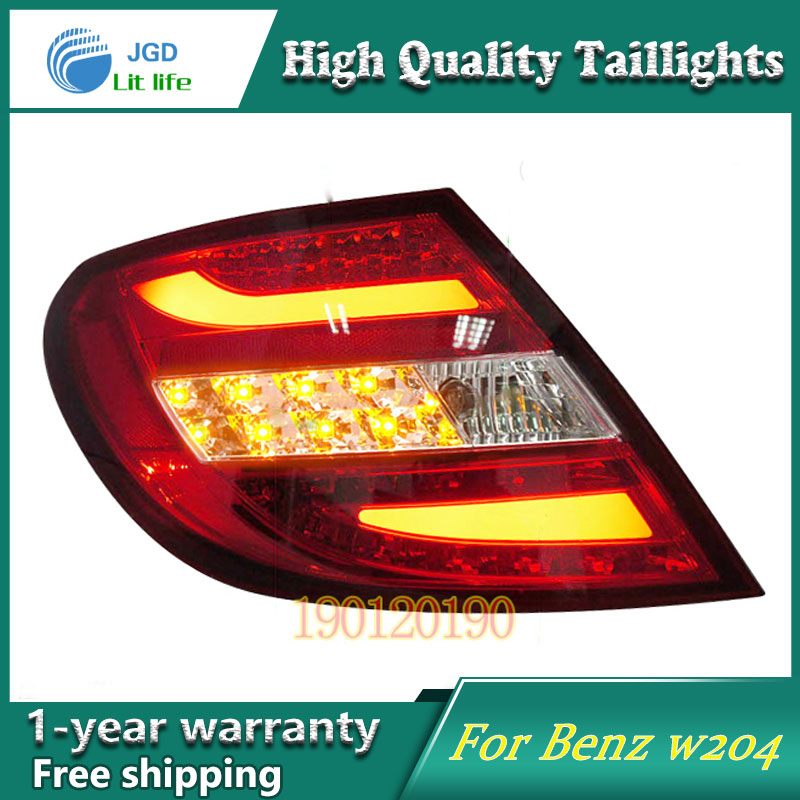 Car Styling Tail Lamp for Mercedes-Benz w204 C180 C200 Tail Lights LED Tail Light Rear Lamp LED DRL+Brake+Park+Signal Stop Lamp car truck led tail rear bumper reflector light brake stop warining lamp for mercedes benz e class w203 sedan