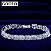 GAOLA 2016 New Fashion Luxury Bracelets Gold Color For Women GLS0439