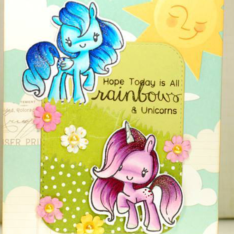 The Little Pony Clear Stamp DIY Scrapbooking Card Photo Album Making Silicone Decoration Handicraft in Cutting Dies from Home Garden