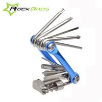 ROCKBROS Bicycle Tools Repair Screwdriver Hex Chain Aluminum Multitool Mtb Mountain Road Bike Tool Kit Accessories
