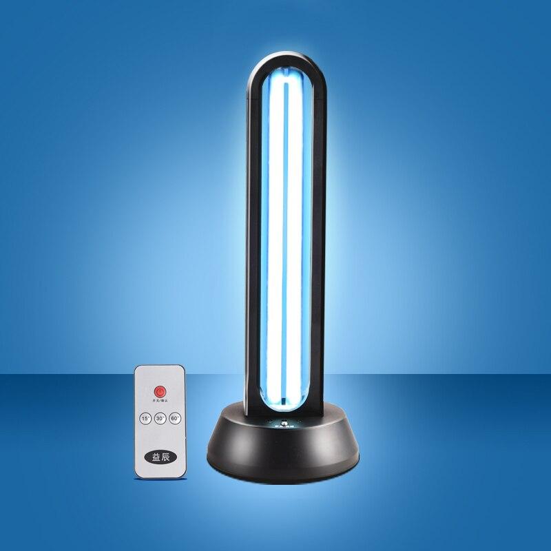 38W UV ฆ่าเชื้อโรคควอตซ์ Lamp sterilizer แบบพกพา MITE รีโมทคอนโทรลโอโซนฆ่าเชื้อบ้านโคมไฟอัลตราไวโอเลต
