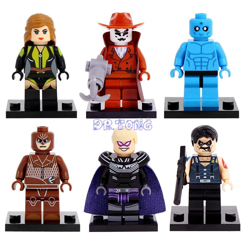 DR.TONG Watchmen Figures Walter Kovacs Dr. Manhattan Comedian Silk Spectre Ozymandias Night Owlman Building Blocks Toy X0131 прорезыватель manhattan toy winkel