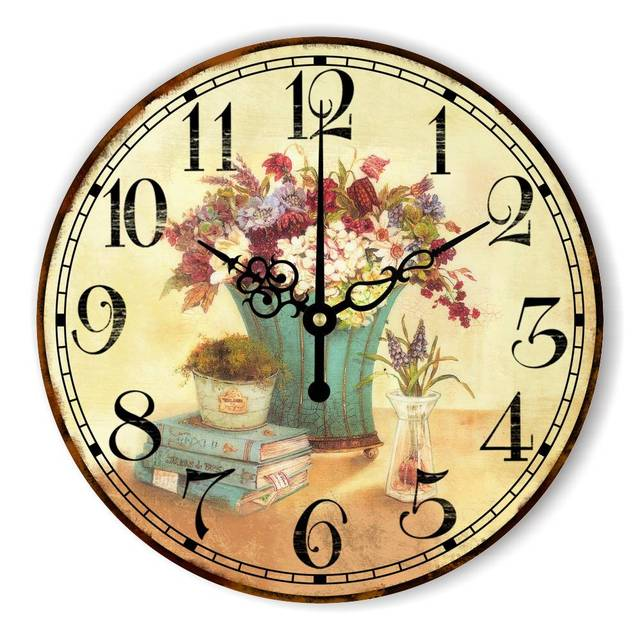 Marvelous Vintage Bedroom Decoration Wall Clock With Silent Clock Movement Warranty 3  Years Southeast Asia Style Home