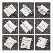 Fashion Pearl Hair Clip for Women 3Pcs/Se Bobby Pin Elegant Korean Design Snap Barrette Stick Hairpin Hair Styling Accessories(China)