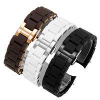 Quality silicone and stainless steel watch bands 20mm 23mm replacement metal strap for AR5890/5891/5906/5905